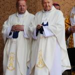 Ordynariusze bratnich diecezji: kard. Marian Jaworski ze Lwowa i kard. Stanisław Dziwisz z Krakowa