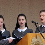 Siostry Miłosierdzia św. Wincentego obrządku greko-katolickiego wykonują psalm responsoryjny